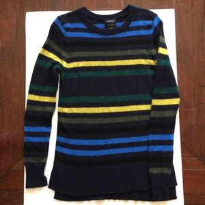 Halogen 100% Cashmere Striped Sweater Medium